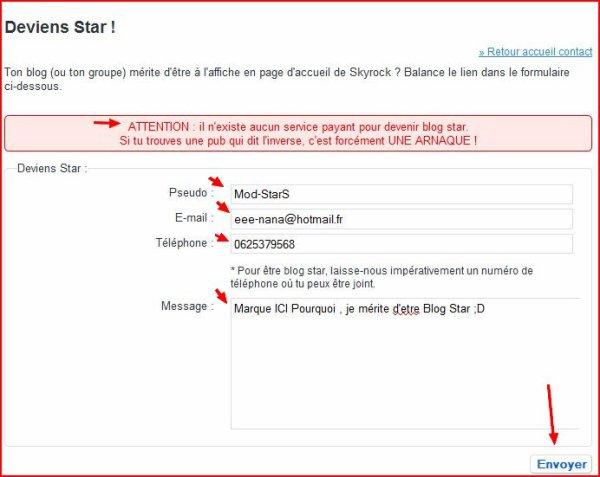 Tu veut me voir Blog Star ?? Click Vite !