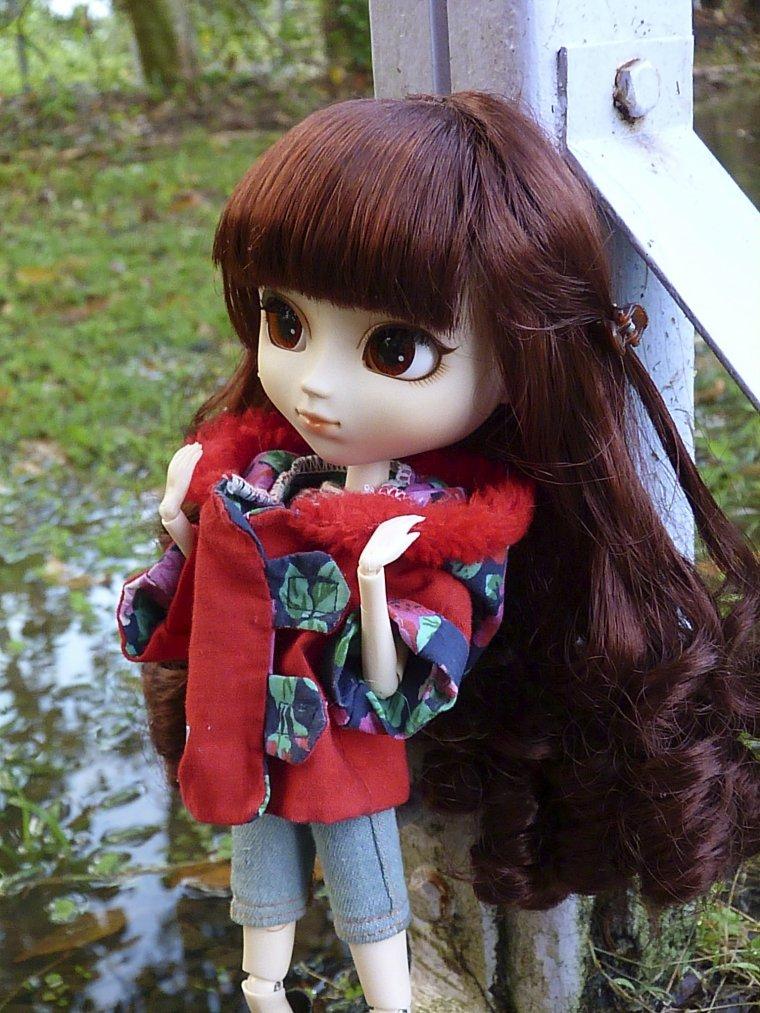Charlyse sous la pluie