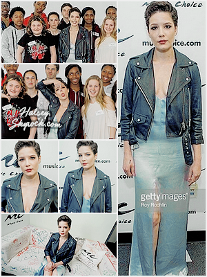 28/04/2016 • • Halsey s'est rendu a la radio SiriusXM, puis au Music Choice a New York.
