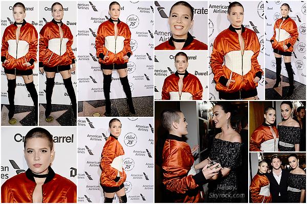 15/11/2016 • • Halsey était présente au gala organisé en l'honneur des 75 ans de Capitol Records.