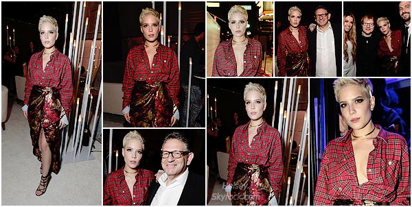 12/02/2017 • • Halsey était présente a l'after party des Grammy Awards du groupe Universal Music.  La soirée continue pour Ashley, avec une troisièmement tenue, j'aime bien sa robe, elle est assez original et le rouge lui va très bien, top !