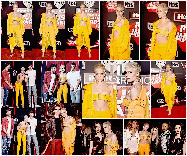 05/03/2017 • • Halsey a assister a la cérémonie des IHeartRadio Music Awards a Inglewood, CA.  Accompagnée de ses amis The Chainsmokers, Ashley et le duo ont remportés le prix de la meilleure chanson danse de l'année, bien mérité !