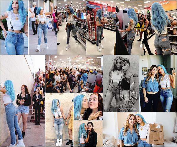 03/06/2017 • • Halsey a donné rendez-vous à des fans via Twitter au magasin Target, à Hollywood.  Ashley a eu la gentillesse d'acheter son album à tous les fans présent avec elle ! Elle a également pris le temps de converser avec eux et de prendre des photos souvenir.