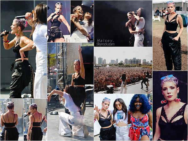 05/08/2017 • • Halsey a rejoint son amie Charlie XCX sur la scène du festival Lollapalooza a Chicago.   Sur une reprise de la célèbre chanson Wanabe des Spice Girls, les filles ont donné un avant gout de la prochaine tournée de Halsey.