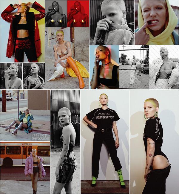 PHOTOSHOOT • • Queen Halsey fait la couverture du mois de septembre du magazine « Flaunt » !