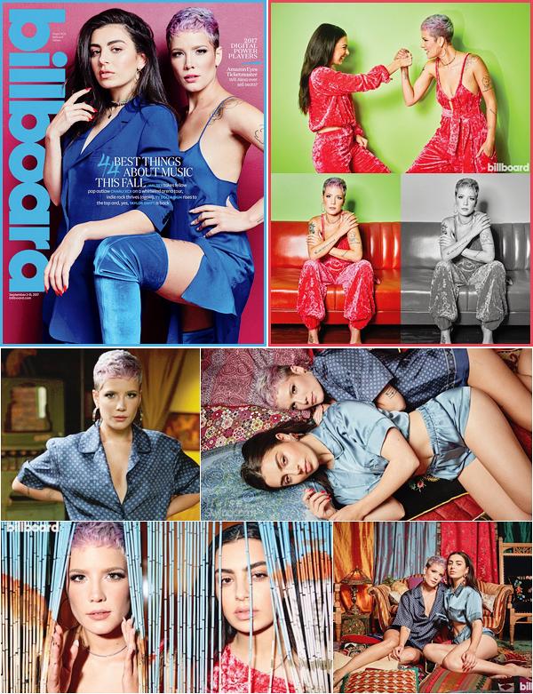 PHOTOSHOOT • • Halsey au côté de la belle Charlie XCX posent pour le magazine « Billboard » !
