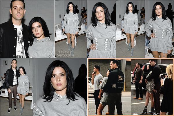 09/09/2017 • • Ash s'est rendu au défilé de Jonhathan Simkhai pour la Fashion Week de New York.