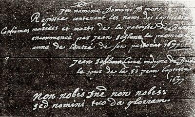 """1677 : JEAN SCHLUNTZ ou le """"curé indigne de Bure"""""""