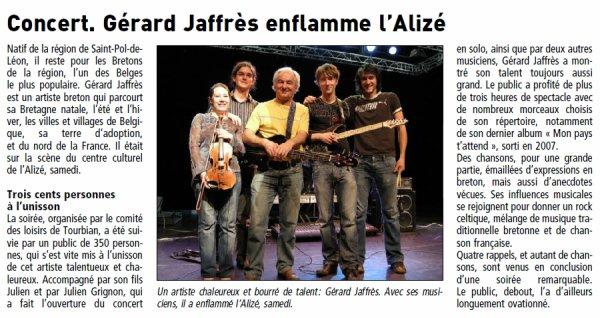 concert à Guipavas :