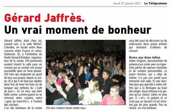 Premiers concerts 2011 :