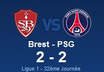 BREST 2 - 2 PSG