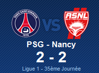 PSG 2 - 2 NANCY