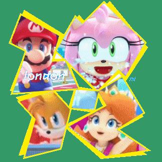 Blog source : dégagez votre voiture, ne restez pas sur la route, et oui, Mario et Sonic sont là !!