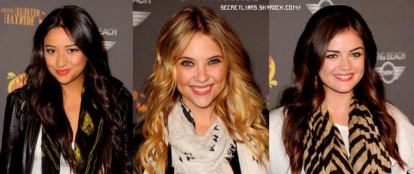 Ashley Benson , Lucy Hale et Shay Mitchell ont assisté a la 3e édition de L.A Haunted Hayride
