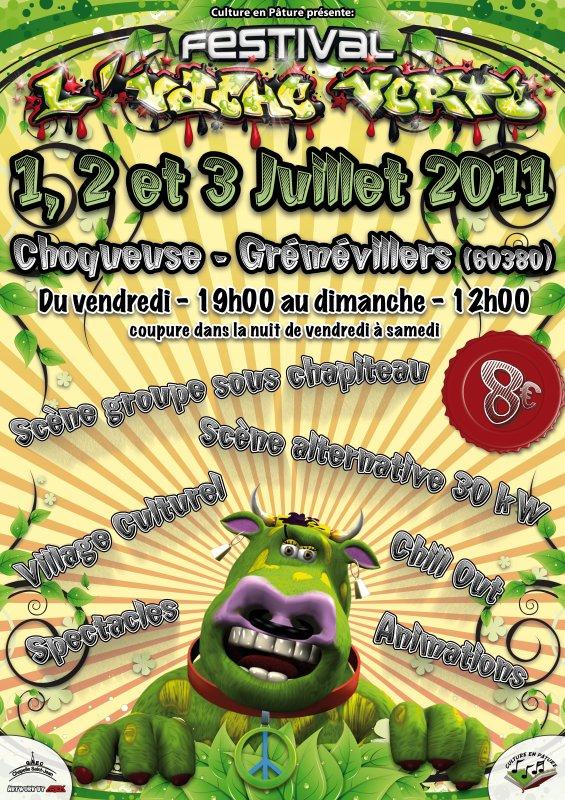 Affiche L'Vache Verte 2011
