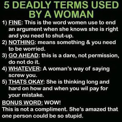 Male Warning