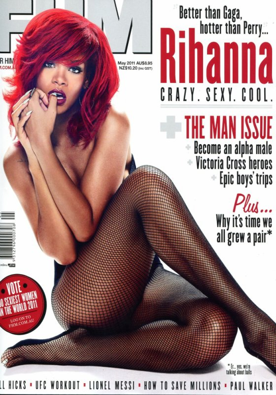 Rihanna apparait plus hot que jamais pour la couverture de l'édition australienne du magazine FHM.