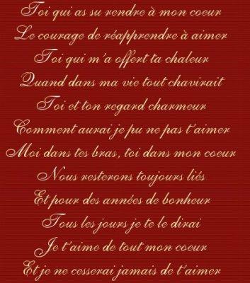 Texte Pour Dire Ke Je Taime Blog De Je Taime Clementine