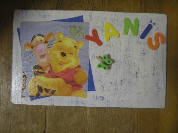 """Plaque de porte """"Winnie - Tigrou"""""""
