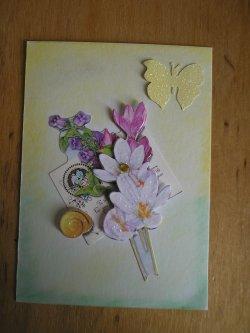 """ATC thème """"fleur de printemps 2"""""""
