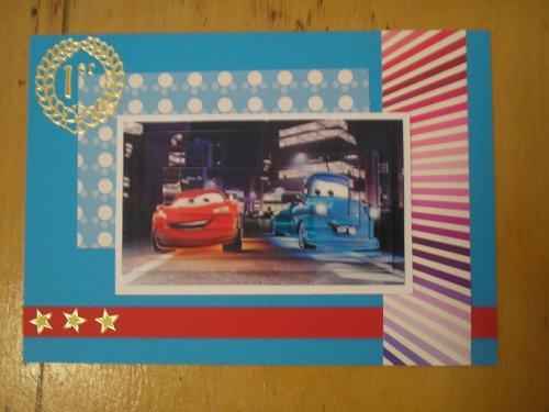 """Carte 3D """"Cars 1er"""""""