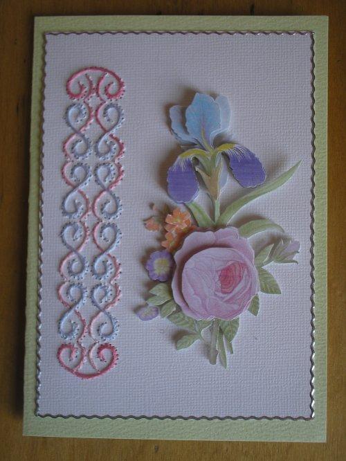 """Carte 3D """"Tendre bouquet"""""""
