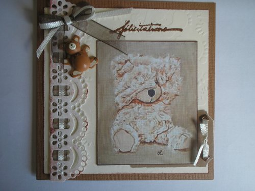 """Carte naissance """"coucou nounours"""""""