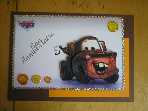 "Carte 3D ""Cars - Martin"""