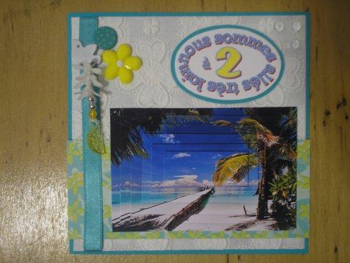 "Carte 3D "" Paradisiaque"""
