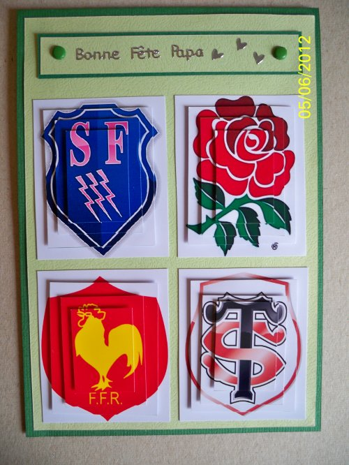 """Carte 3D """"Rugby"""""""