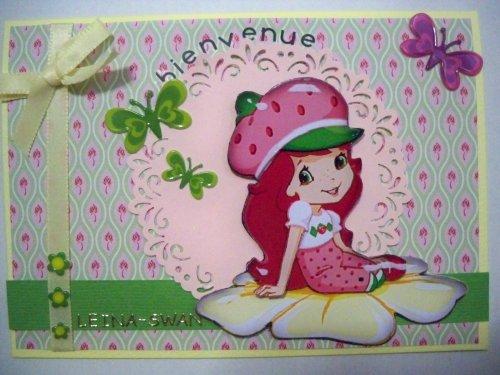 """Carte 3D """"Chalotte aux fraises"""""""
