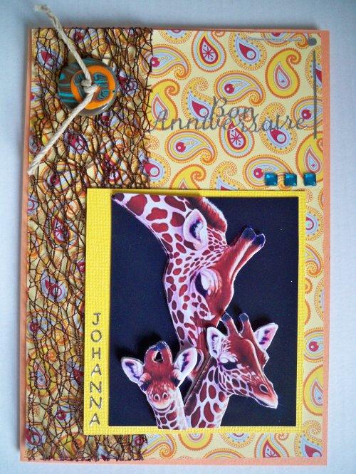 """Carte 3D """"Girafes"""""""