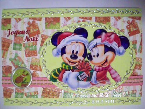 "Carte 3D Minnie et Mickey - Noël -"""
