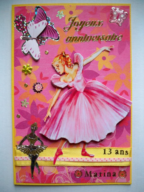 "Carte 3D ""Danseuse"""
