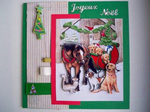 """Carte 3D """"Les amis du Père Noël"""""""