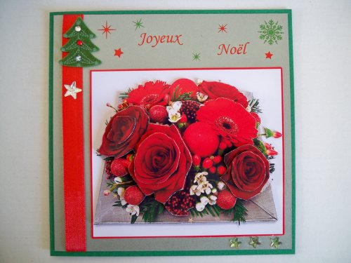 "Carte 3D ""Bouquet de Noël"""