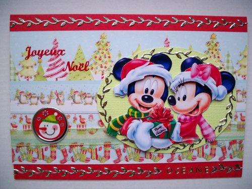 "Carte 3D ""Noël de Mickey"""