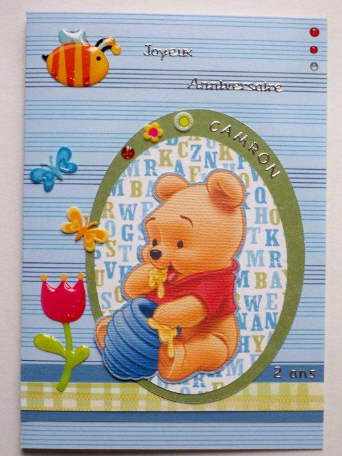 """Carte d'anniversaire """"Winnie"""""""