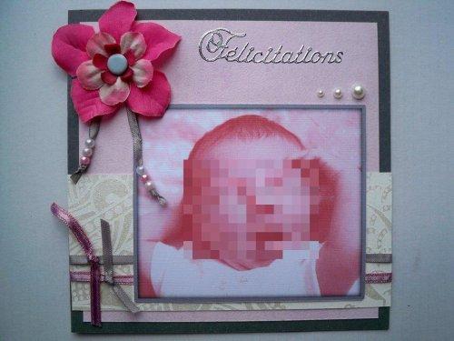 "Carte de félicitations ""Maélie"""