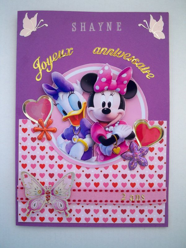 "Carte 3D "" Daisy et Minnie"""