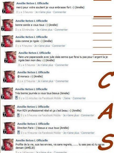 Facebook Officiel d'Amélie Neten