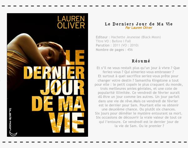 Le dernier jour de ma vie - Lauren Oliver