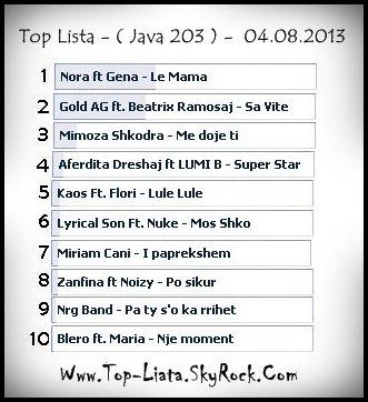 FITUES : ♥ Nora Istrefi & Gena - Le Mamma ♥ - Java 203 - Data : 04.08.2013