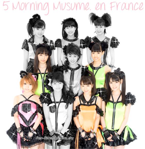 5 Morning Musume. et Takagaki à Paris ! :)