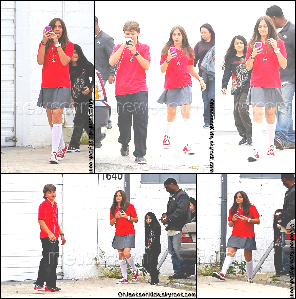 Candids|Paparazzi photos-  Prince, Paris and Blanket Jackson leave acting Class- 17th May 2011