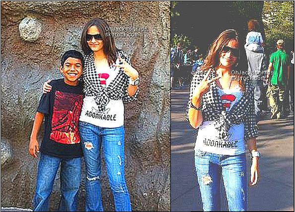 Exclusive|Personal photos-  Paris Jackson in Disney Land + Paris Jackson twitter photo.