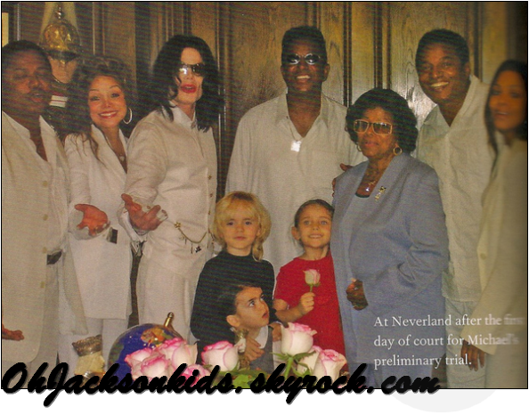Prince, Paris & Blanket Jackson with their father and the family //EXCLUSIVE/PERSONAL