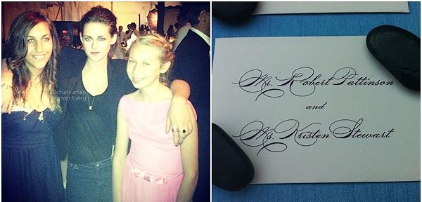 Le 23.06.2012 : Kristen et Robert était présent à un mariage dans le New Jersey.Elle était très belle !