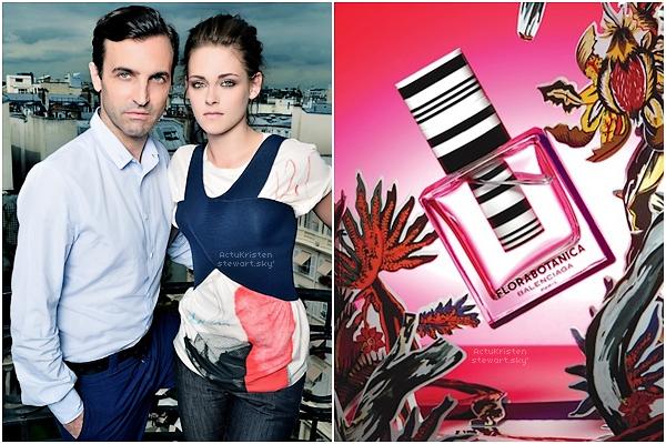 Le 29.06.2012 : Une photo de Kristen audîné(organisé par Balenciaga) qui se tenait à Paris en l'honneur de sa nouvelle égérie... donc Kris. Elle portait un top et un jean Balenciaga. On récolté quelques infos sur le parfum..