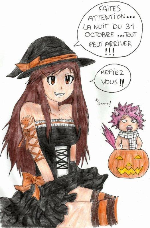 Dessin pour un concours spécial Halloween !!!